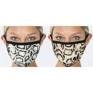 🆕️ Snakeskin Print Facemask